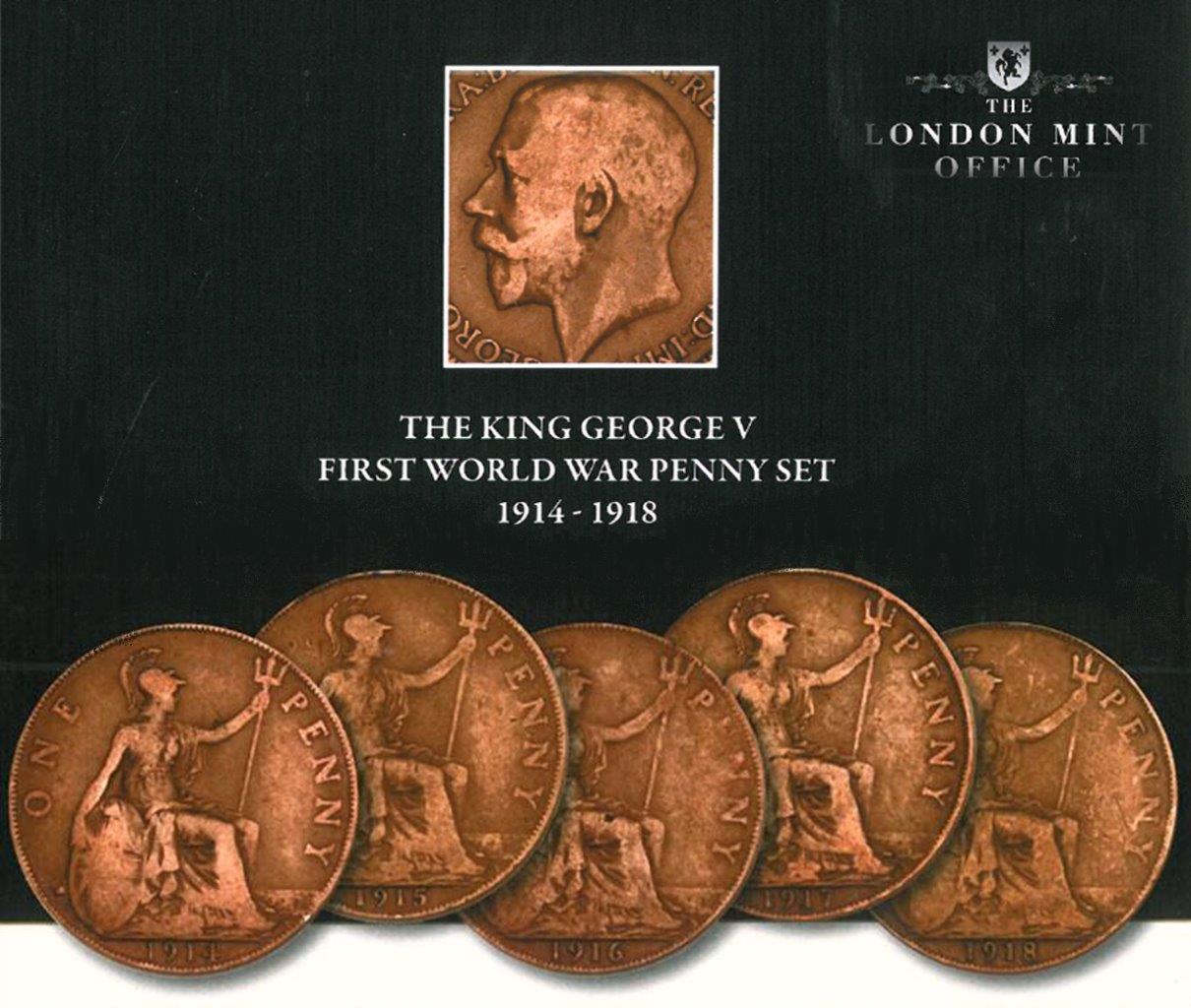 First World War Penny Set 1914 - 1918