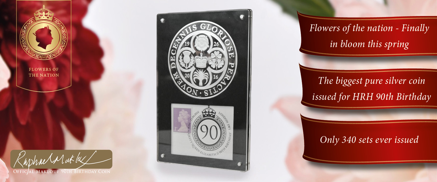 The Queen Elizabeth II 90th Birthday Pure Silver Coin