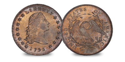 USA Flowing Hair Silver Dollar