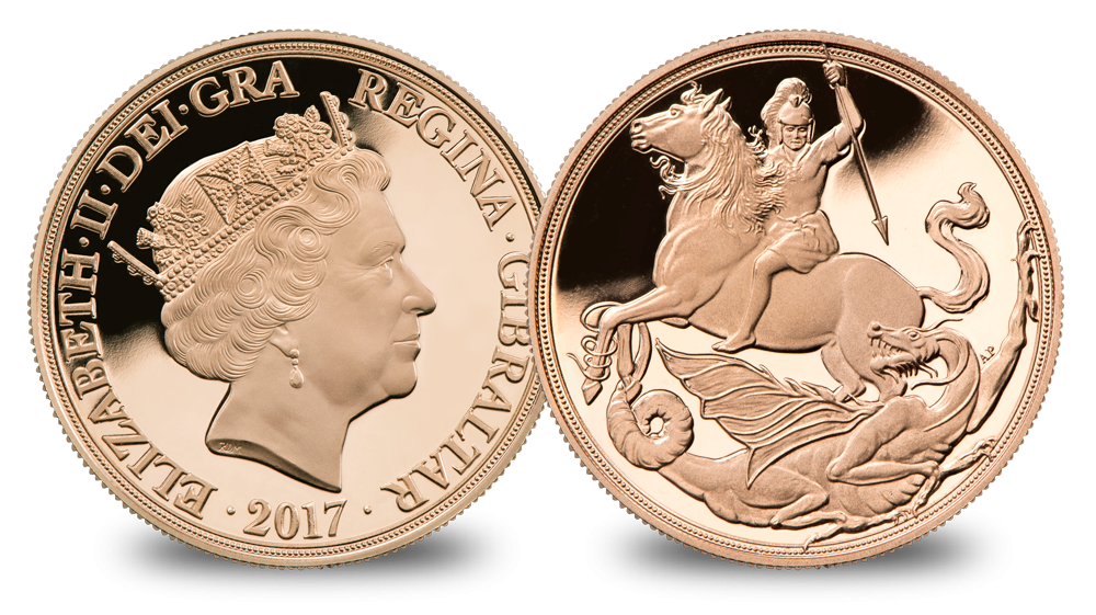 The 200th Anniversary of the 'Saint George and the Dragon' design on a Gold Sovereign