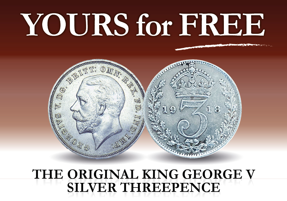 FREE The King George V Silver Threepence