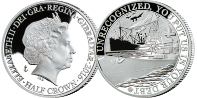 The Official Merchant Navy Association 'Attack from Above' Silver Coin