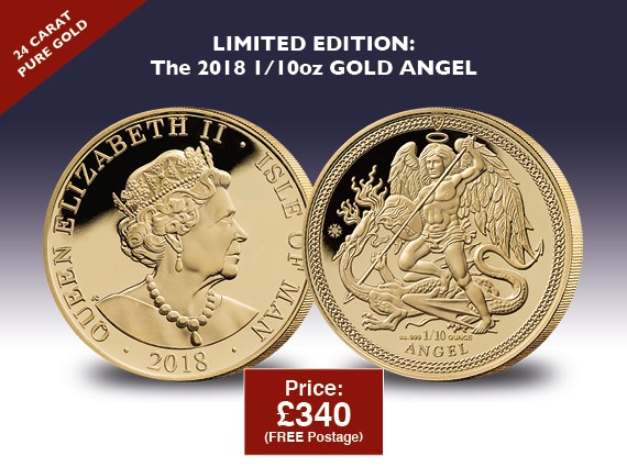 2018 Gold 1/10oz Angel Coin