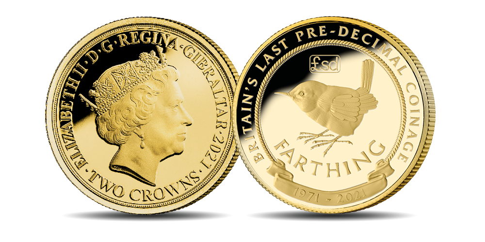 Featuring a beautiful remastering of one of Britain's most iconic pre-decimal coins, the 'Wren Farthing,' this limited-edition coin has been struck in solid 9-carat gold to Proof quality, the highest possible standard unrivalled in sharpness, detail and finish.