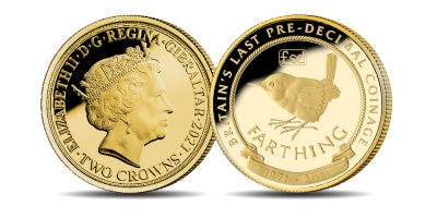 Countdown to Decimal Day Gold Farthing