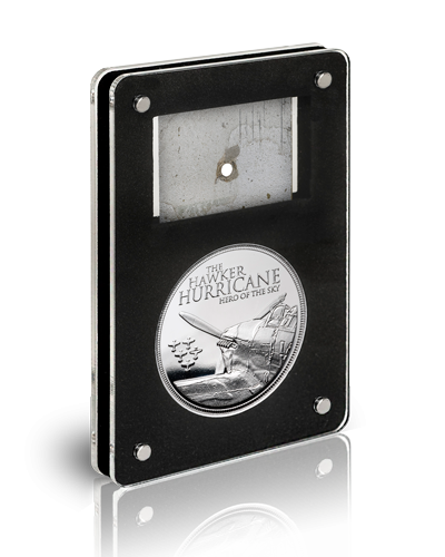 Hurricane Medal Metal In Package Angled