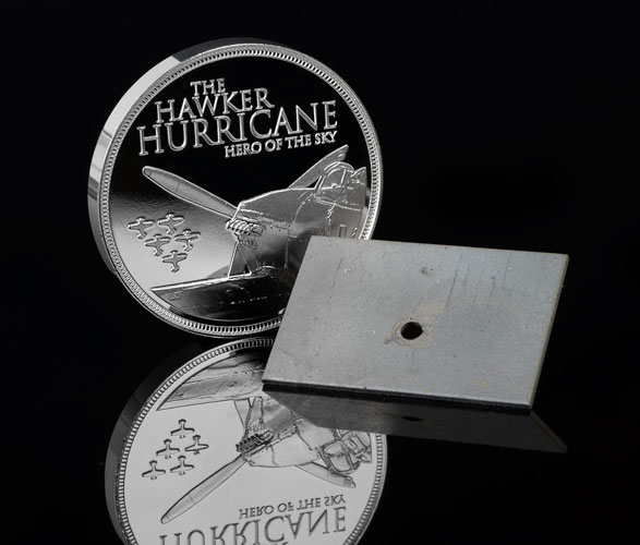 Hurricane Medal Metal On Black