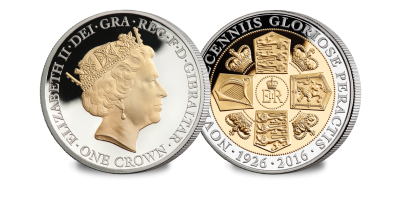 Her Majesty's 90th Birthday Crown Coin by Raphael Maklouf