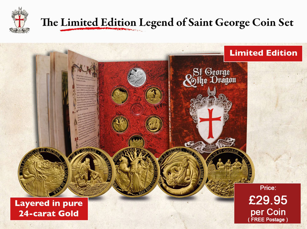 The Official Legend of Saint George Coin Set