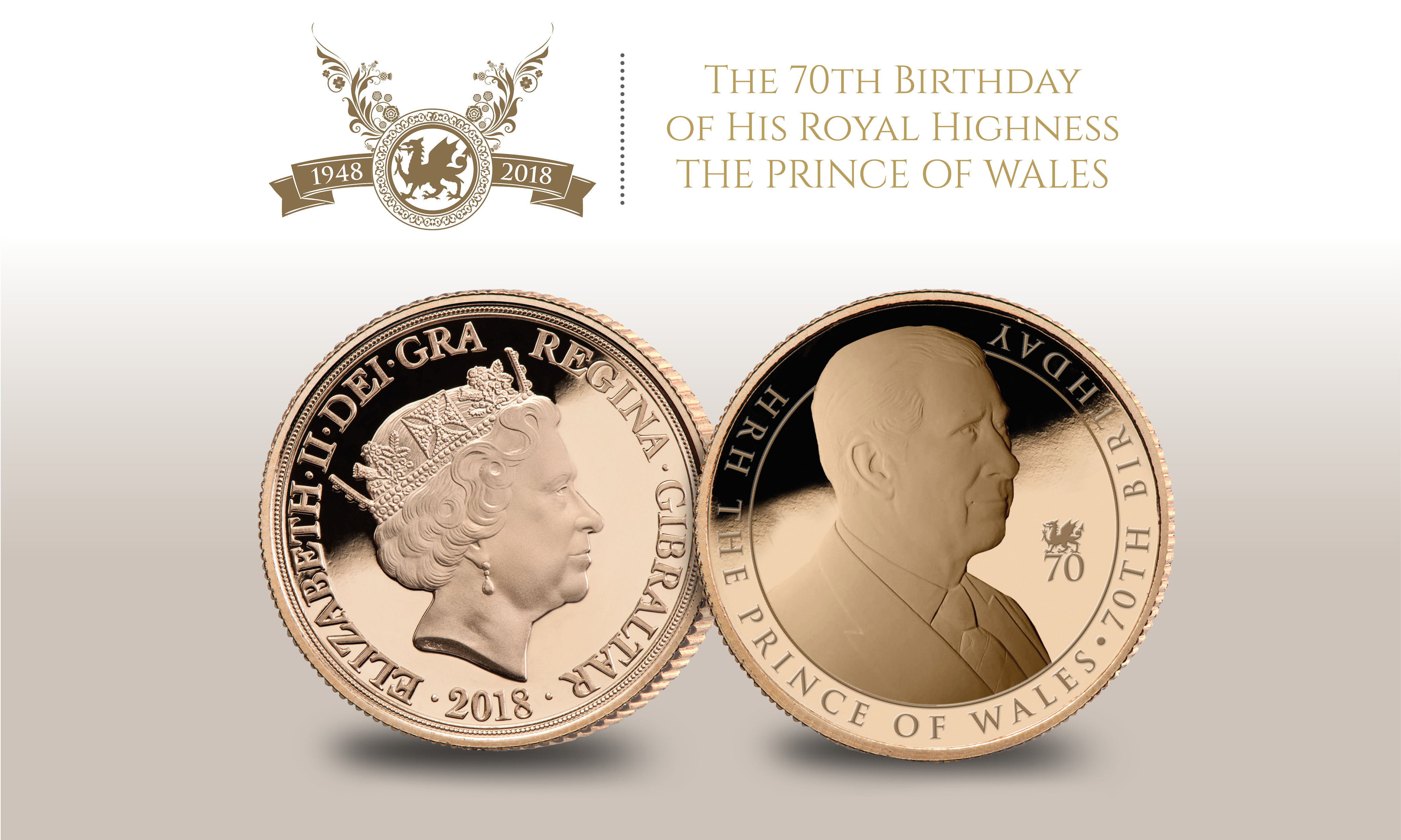 HRH The Prince of Wales Quarter Sovereign