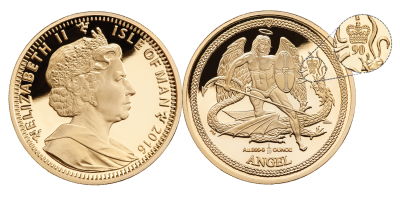 2016 Queen Elizabeth II 90th Birthday ¼ ounce Gold Angel