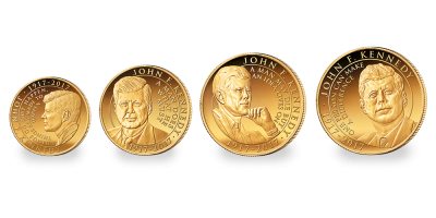 John F. Kennedy 2017 4 Coin Gold Collection