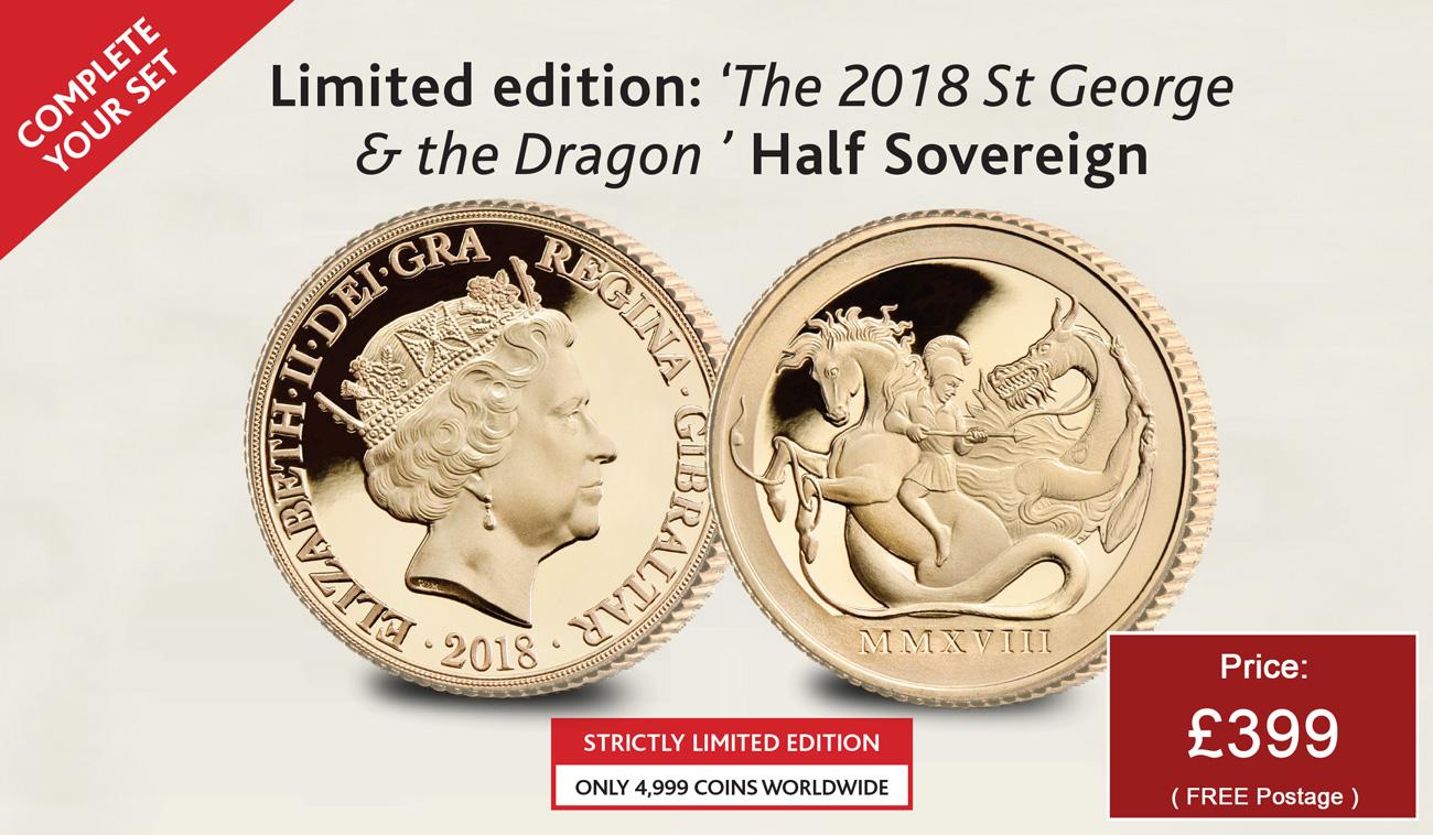 Saint George & the Dragon Half Sovereign