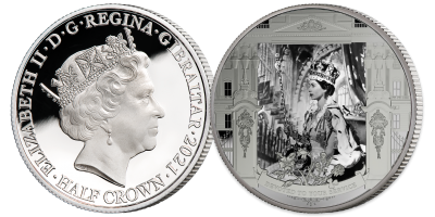 Her Majesty A life in pictures  'Her Oath' Free Coin