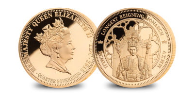 Longest Reigning Monarch Gold Quarter Sovereign