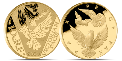 The Long Peace 75 years 1/10 oz Fairmined Gold Coin