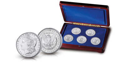 The Morgan Dollar 5 Coin Mint Mark Set