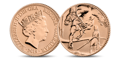 The 'Into the Dragon's Lair' Museum Edition Half Sovereign