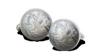 Pure Silver Half Sovereign Cufflinks