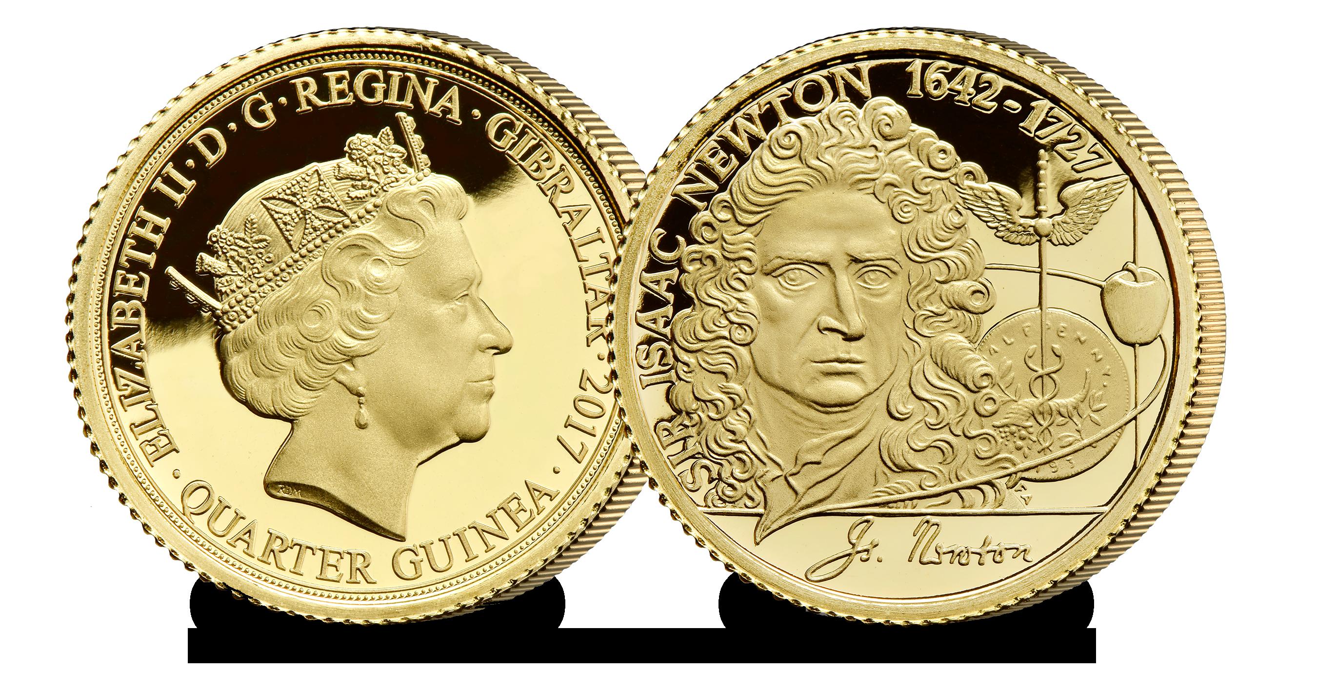 Newton Quarter Guinea - 375 years of Sir Isaac Newton