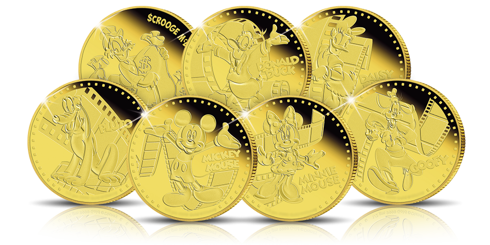 Disney 7 Pure Gold Coin Set