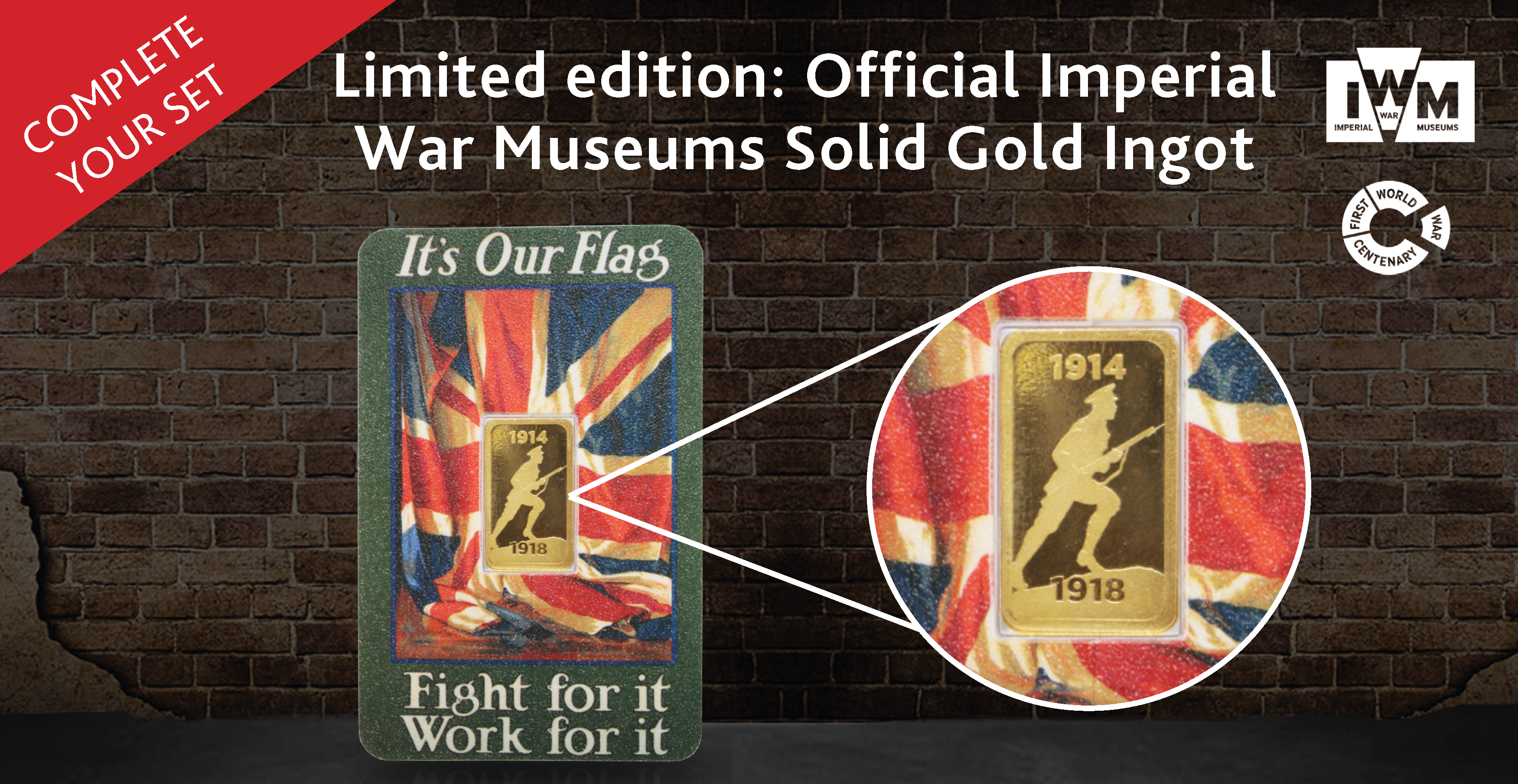 Official Imperial War Museums Solid Gold Ingot