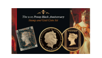August Penny Black Gold Coin 1 Promo (2015) The Penny Black and  1⁄10 oz Gold Coin Set