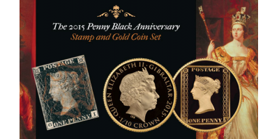 The Penny Black and  1⁄10 oz Gold Coin Set