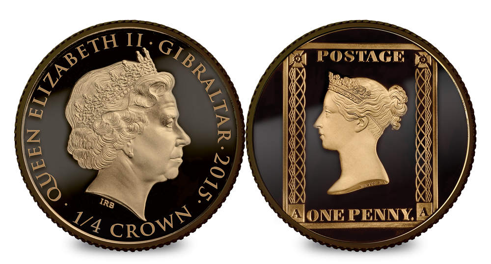 1/4 Crown Penny black Anniversary Silver Coin