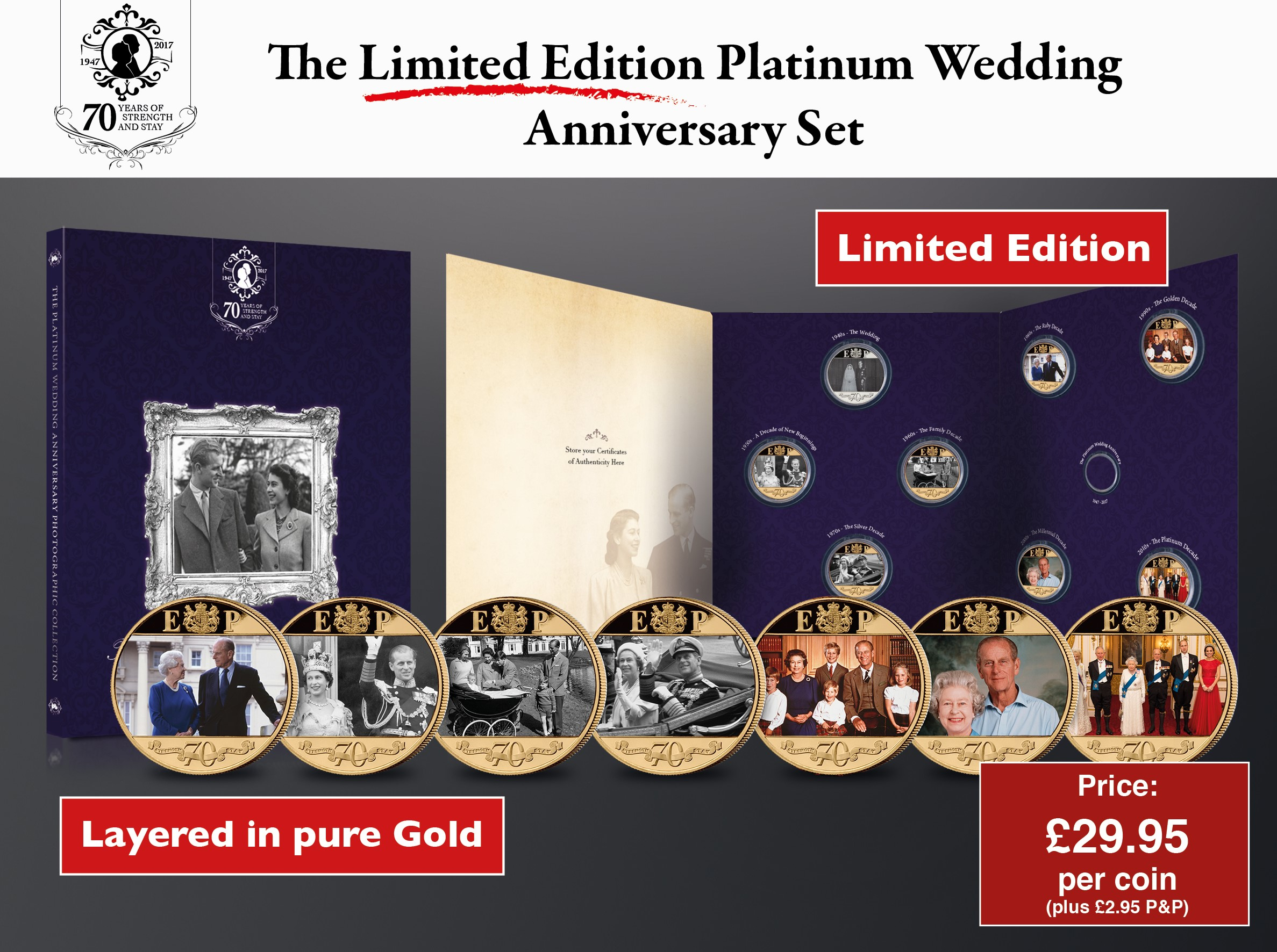 Royal Platinum Wedding Anniversary Coin Set