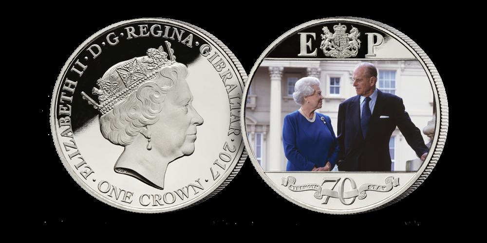 Royal Platinum Wedding Anniversary Coin Set