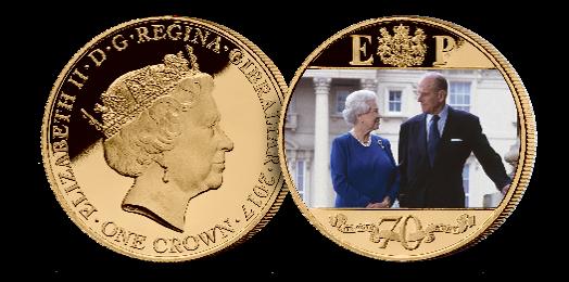 Platinum Wedding Anniversary 2000's  Photographic Coin
