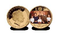 Platinum Wedding Anniversary 1980's  Photographic Coin