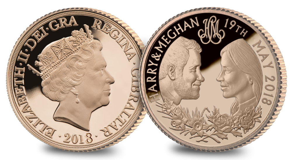 Harry and Meghan Gold Sovereign