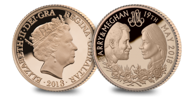 Prince Harry and Meghan Markle Royal Wedding - Gold Sovereign - STRUCK ON THE DAY 19.05.2018