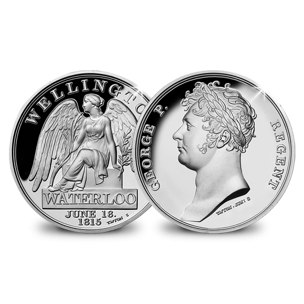 The Waterloo Campaign Medal in Silver