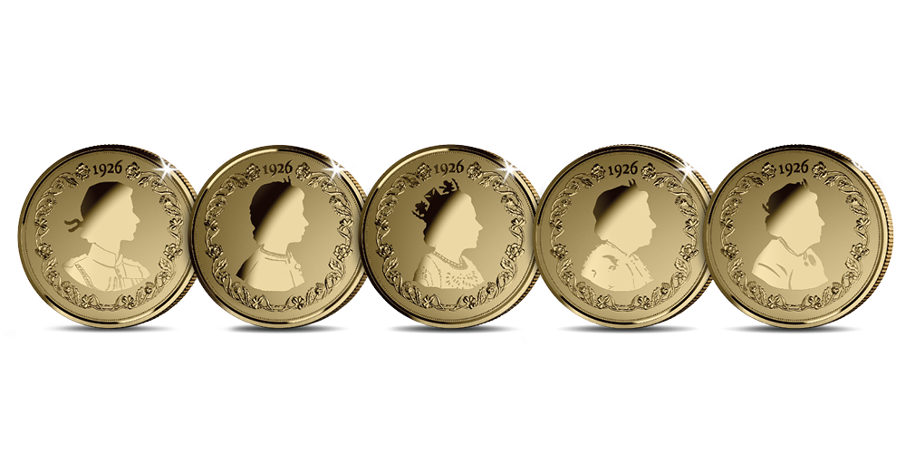 A brand-new and beautiful collection of exclusive coins featuring designs inspired by the portraits that defined Her Majesty Queen Elizabeth II's era.