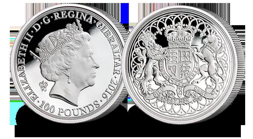 £100 Silver Piedfort Coin