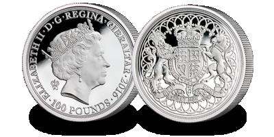 £100 Silver Piedfort