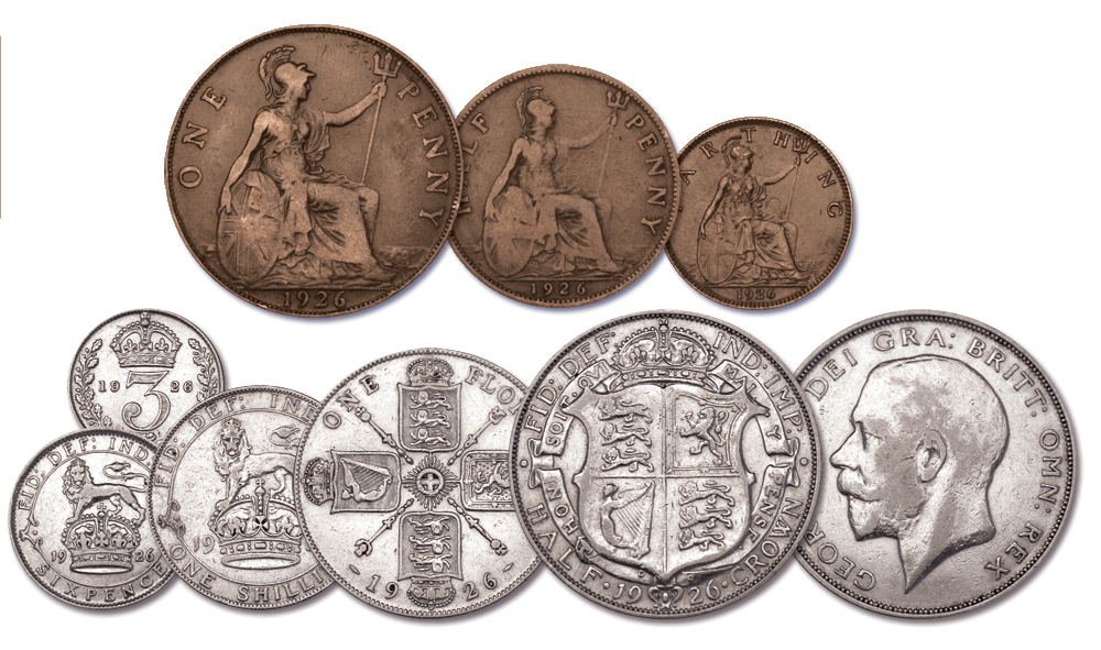 The Queen Elizabeth II 1926 Coin Set All Coins Complete