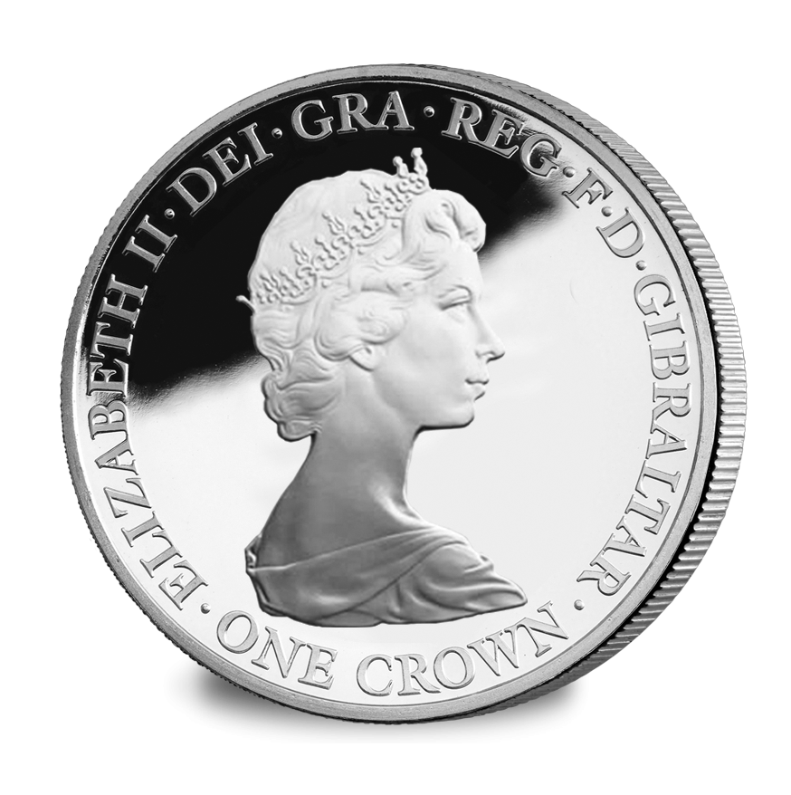 The Queens 90th Birthday Set of 5 Silver Crowns