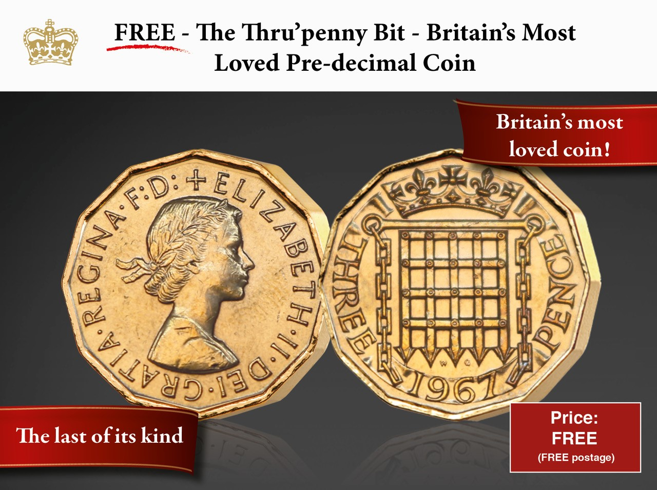 Queen Elizabeth II Threepence - Britain's most loved coin!
