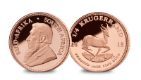 Churchill Commemorative Coin and 1/4 oz Gold Krugerrand Set