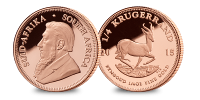 1/4 oz. Gold Krugerrand with Churchill Silver Medal
