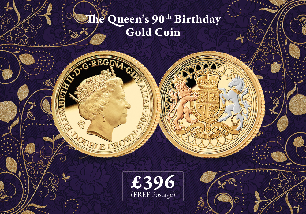 Queen's 90th Birthday Gold Coin
