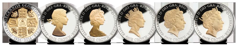 Queen Elizabeth II 90th Birthday Commemorative Coin Set Complete