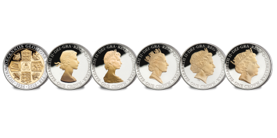 Queen Elizabeth II 90th Birthday Crown Coin Set