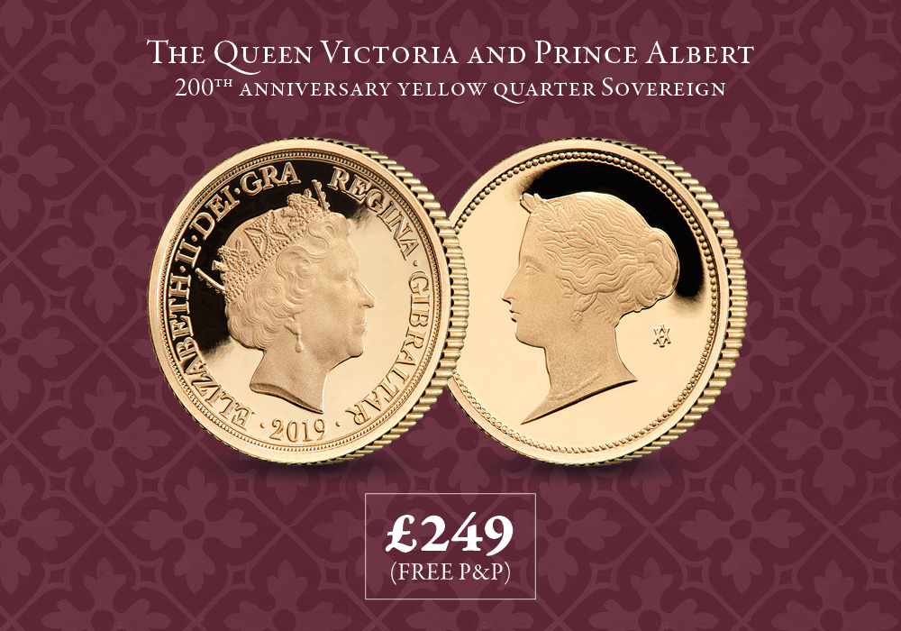 Queen Victoria and Prince Albert 200th Anniversary Yellow Quarter Sovereign