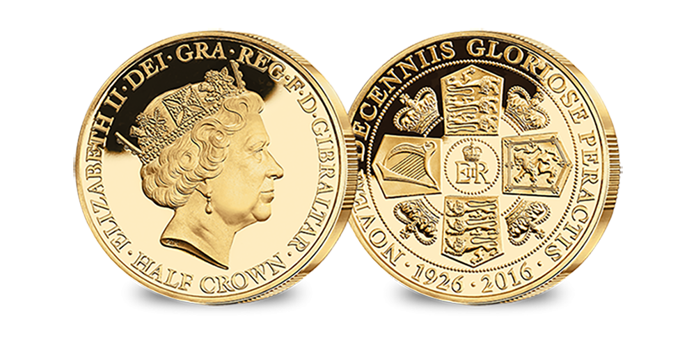Her Majesty's 90th Birthday Commemorative Crown Collection Gold Layered