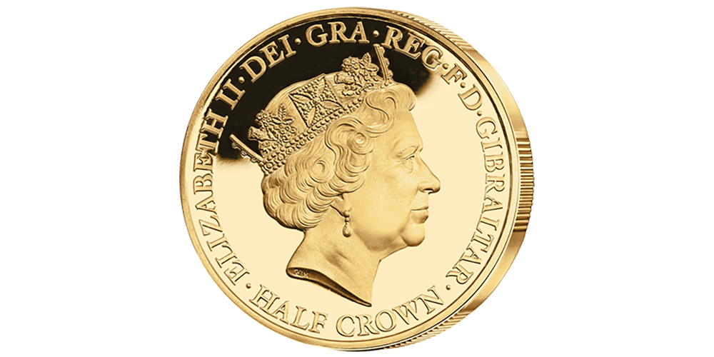 Her Majesty's 90th Birthday Commemorative Crown Collection Gold Layered Reverse